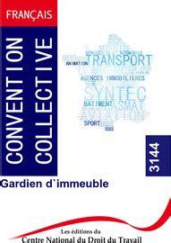 Gardiens D Immeubles Convention Collective Brochure N3144 Derniere Edition