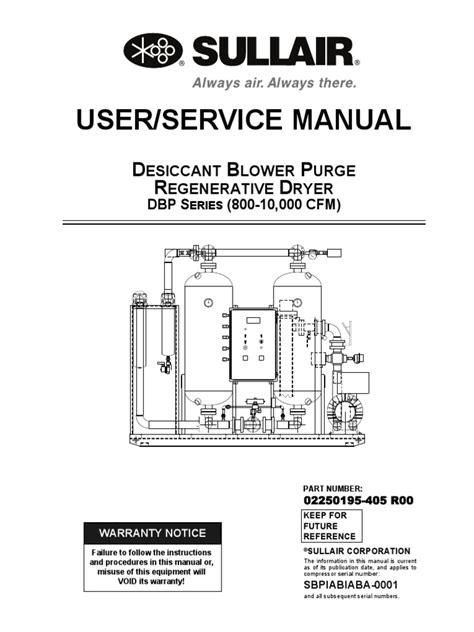 Gardner Denver Compressed Air Dryer Service Manual