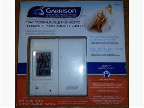 Garrison Programmable 7 Day Thermostat Manual