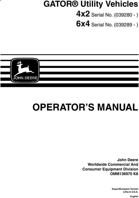 Gator 6x4 Manual