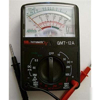 Gb Gmt 12a Voltage Meter Manual