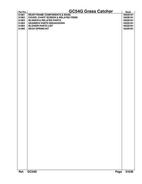 Gc54g Revised Service Repair Manual