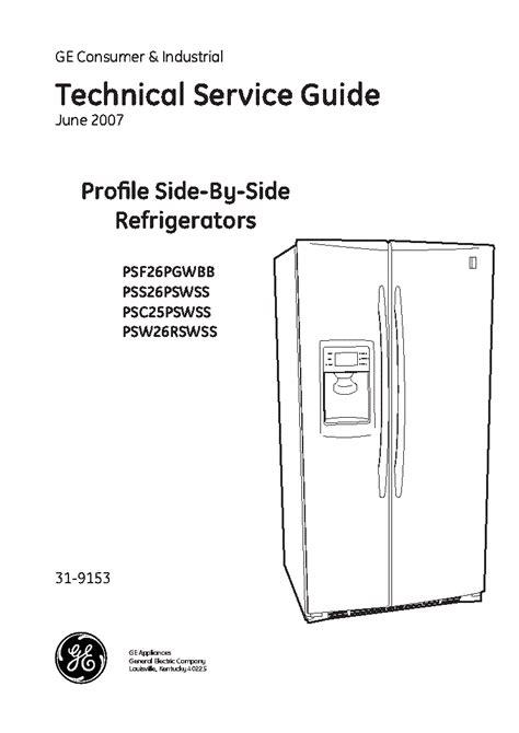 Ge Profile Refrigerator 1985 Manual