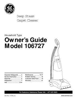 Ge Steam Cleaner Manual