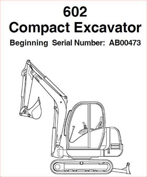 Gehl 602 Excavator Parts Manualedition 2003