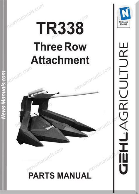 Gehl Tr338 Three Row Attachment Parts Manual