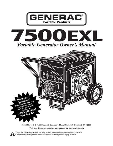 Generac Gp6500e Owner Manual