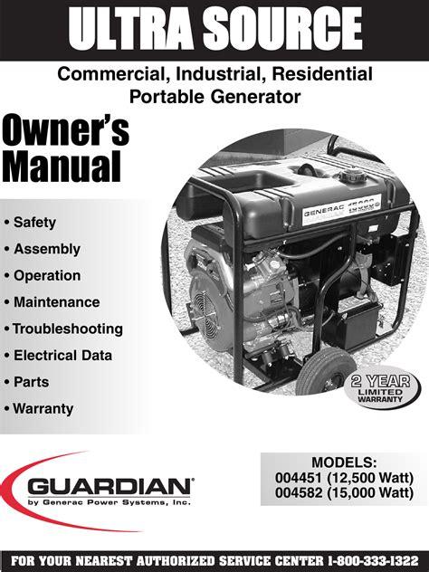 Generac Sd035 Generator Service Manual