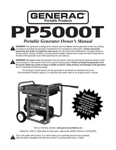 Generac Vt 2015 Generator Manual