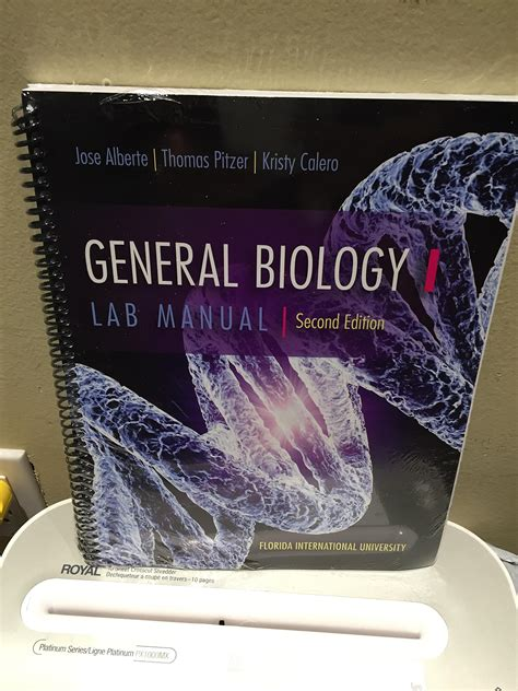General Biology 1 Lab Manual Answers 4th