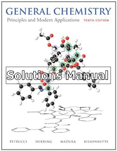 General Chemistry 10th Edition Petrucci Solutions Manual