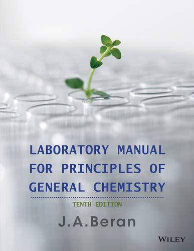General Chemistry Ja Beran Lab Manual Answers