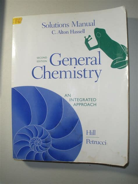 General Chemistry Solution Manual Petrucci Hill