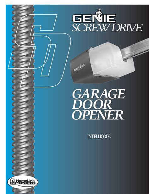 Genie Garage Door Opener Manual