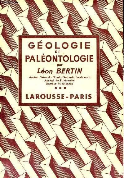 Geologie et paleontologie t. 3