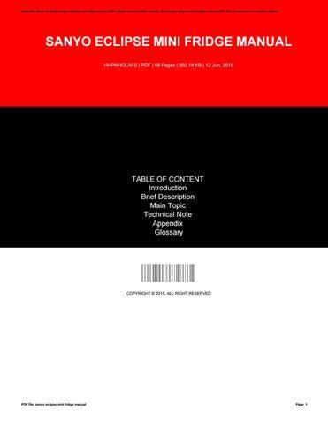 Get Sanyo Eclipse Manual