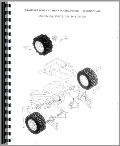 Gilson 33420a Lawn Garden Tractor Parts Manual