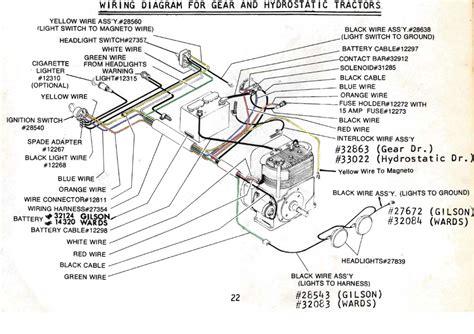 Gilson Lawn Tractor Wiring Schematic