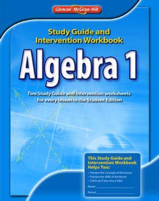 Glencoe Algebra 1 Study Guide And Intervention