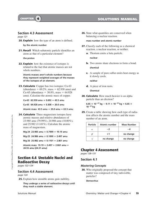 Glencoe Chemistry Chapter 8 Answers