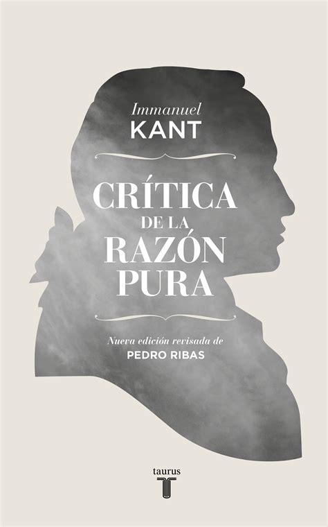 Glosario Critica De La Razon Pura De Immanuel Kant