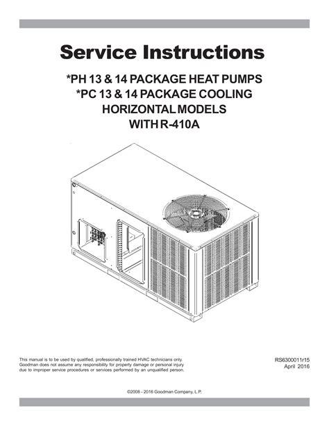 Goodman Heat Pump Owner Manual