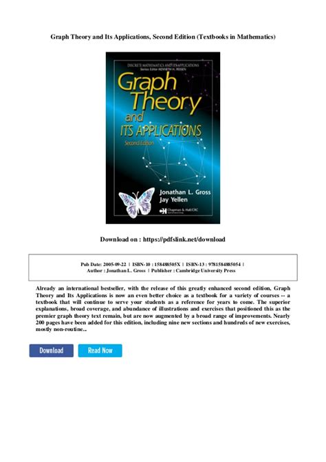 Graph Theory And Its Applications Second Edition Textbooks In Mathematics