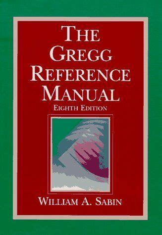 Gregg Reference Manual 102a