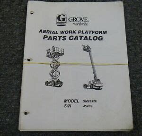 Grove Sm2632e Parts Manual