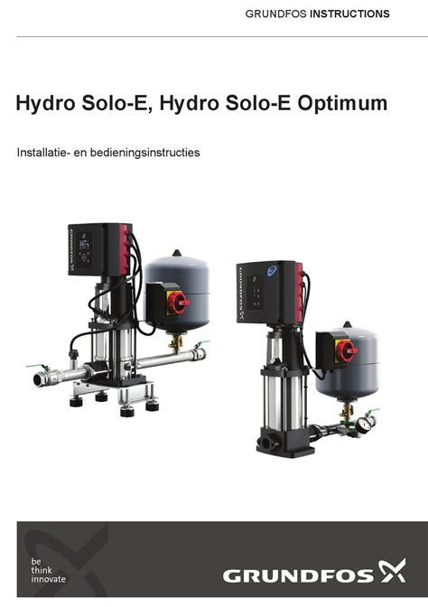 Grundfos Hydro 2015 Manual