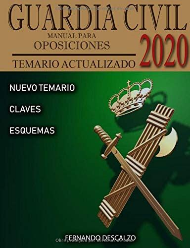 Guardia Civil Manual Para Oposiciones Temario Actualizado 2020