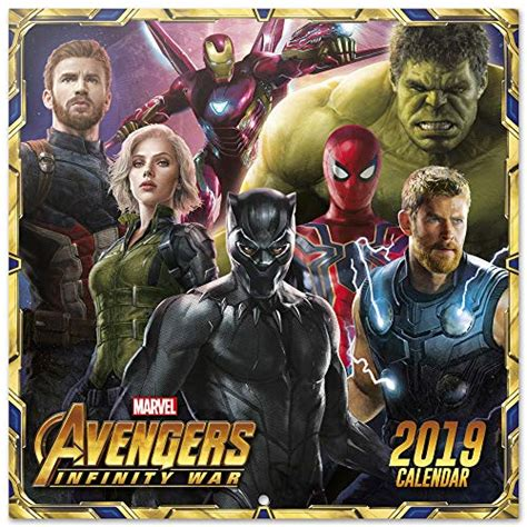 Guardians Of The Galaxy Official 2019 Calendar Square Wall Calendar Format