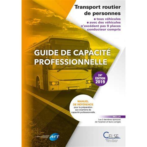 Guide De Capacite Professionnelle Transport Routier De Personnes