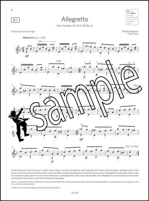 Guitar Exam Pieces From 2019 Abrsm Grade 4 Selected From The Syllabus Starting 2019 Abrsm Exam Pieces