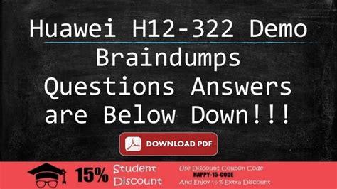 H12-322_V1.0 Valid Exam Answers