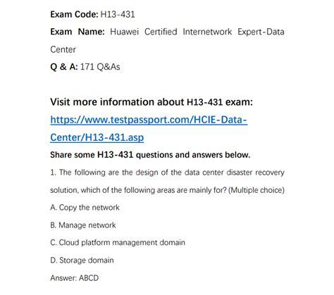 H13-431_V2.0 Exam Fragen