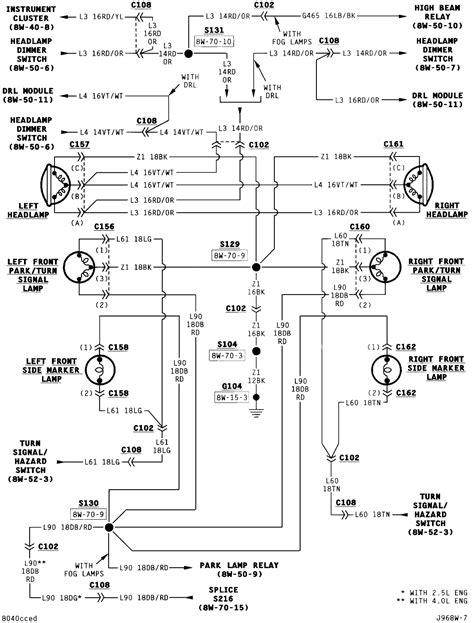 H4 Wiring Diagram Jeep Cherokee