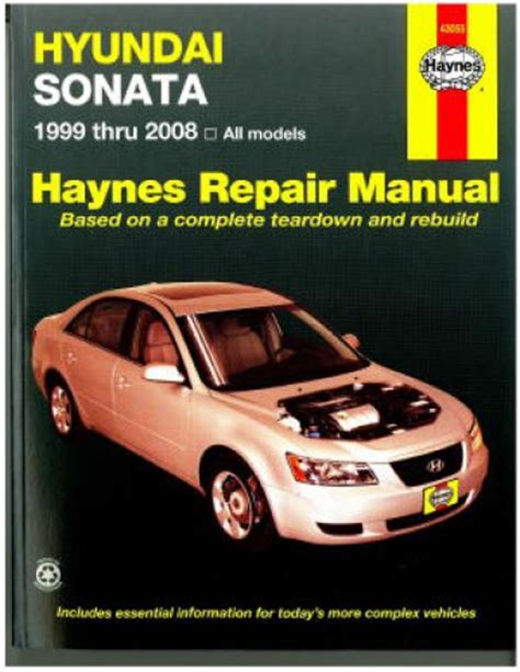 H43055 Haynes Hyundai Sonata 1999 2008 Auto Repair Manual