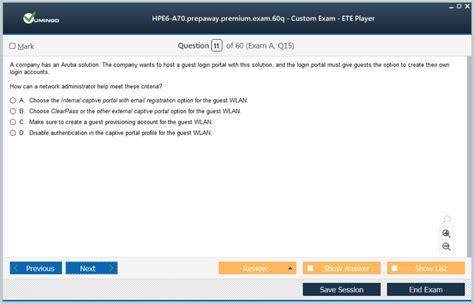 HPE6-A70 Latest Dumps Questions