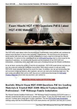 HQT-4180 New Study Questions