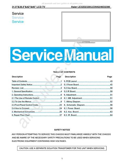 Haier Le32d2320 Manual