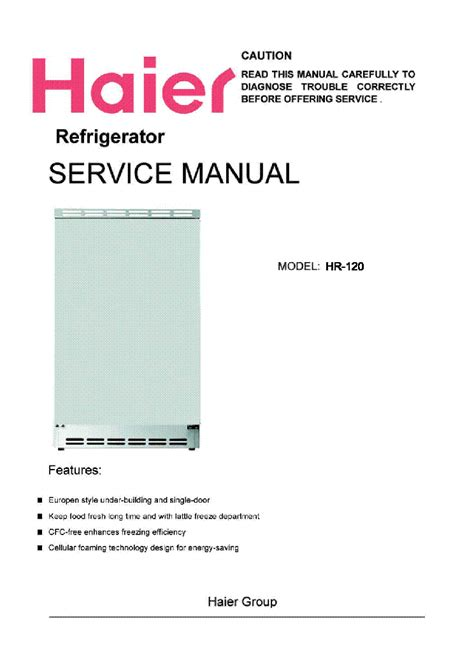 Haier Refrigerator Owners Manual