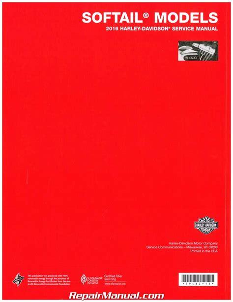 Harley 2016 Softtail Repair Manual