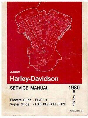 Harley Davidson Fl Shovelhead 1978 Workshop Service Manual