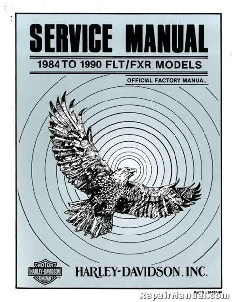Harley Davidson Fxr Service Manual