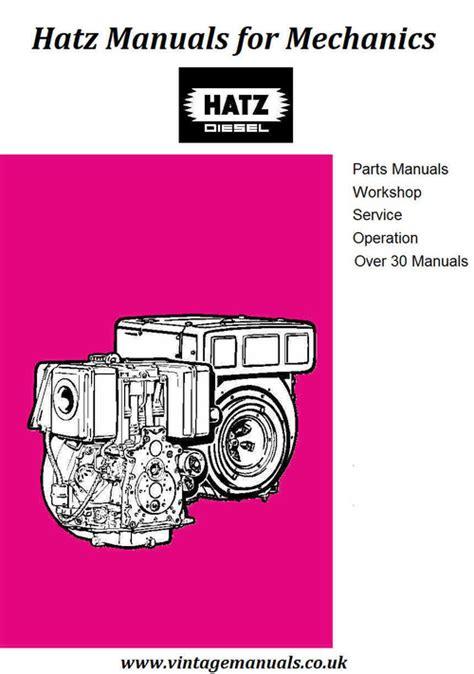 Hatz E Series Diesel Engine Workshop Manual