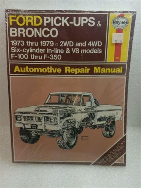 Haynes 73 Ford Manual