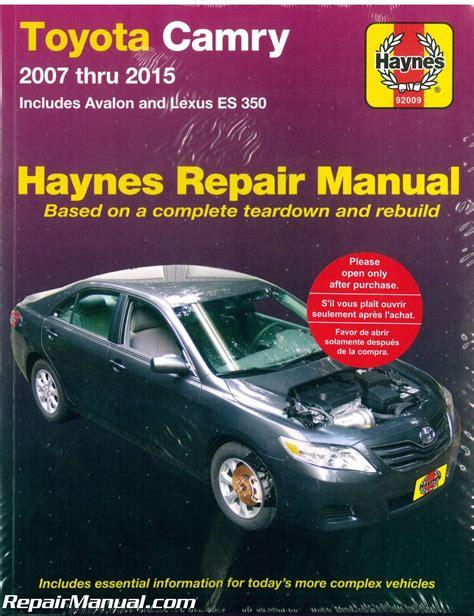 Haynes Car Repair Manuals 2016 Toyota Camry
