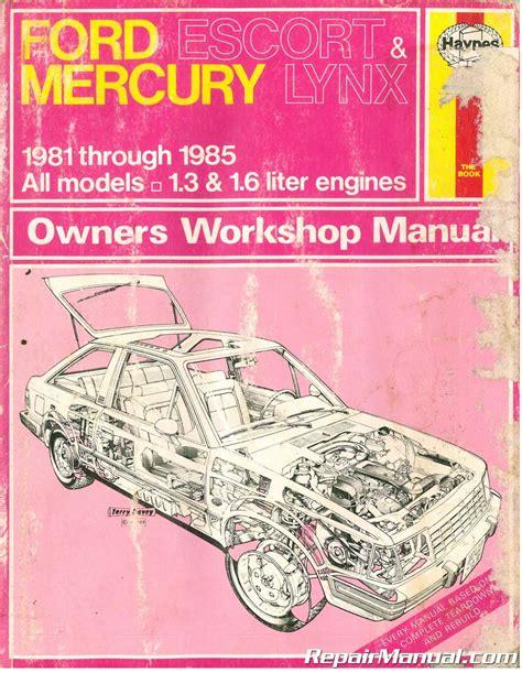 Haynes Ford Escort And 1983 Mercury Repair Manual