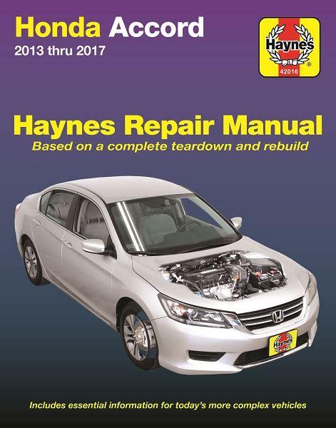 Haynes Honda Accord 2016 Car Repair Manuals